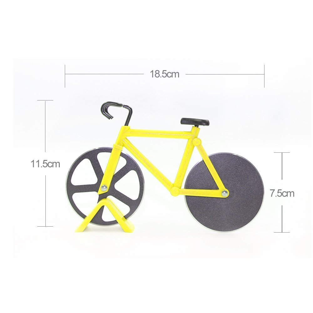 Cortador de pizza para bicicleta de acero inoxidable: Amazon.es: Hogar