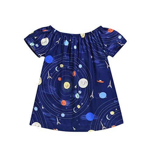 Julhold baby meisjes kinderen mode korte mouwen taart cartoon Luna Aircraft katoen jurk 2019 New 1-3 jaar