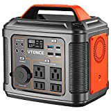 Portable Power Station 300W, VTONCE 296Wh Solar Generator with PD100W USB Quick Charge / 110V AC Outlets / DC Ports and LED Flashlight, Emergency Backup Lithium Battery for Home Outdoor Travel Camping