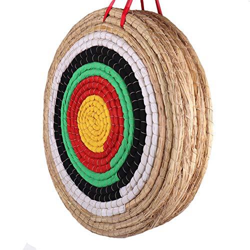 Objetivo de tiro de arco para exteriores de 50 x 50 cm, tradicional pajita fija hecha a mano, objetivo redondo para practicar al aire libre, arco y flecha (5 capas)