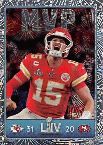 2020 Panini NFL Stickers Football #29 Patrick Mahomes II Kansas City Chiefs/San Francisco 49ers Super Bowl LIV MVP Foil Official Football Sticker Collection (Paper thin approx 1.5 x 2 inches)