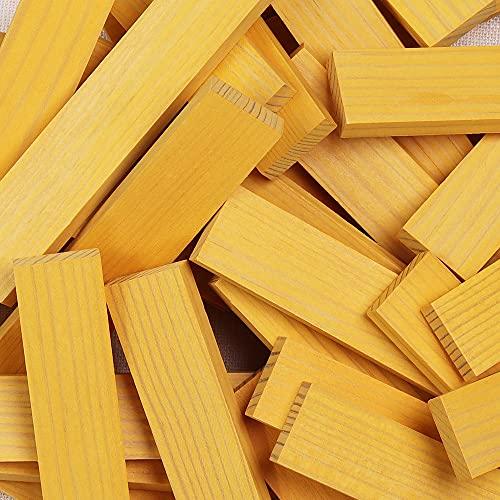 Kapla 9000156 Holzplättchen 40-teilig in Box, Gelb - 5