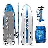 Bluefin Stand Up Paddle Board Hinchable | Modelo Mammoth 18'| Tabla de Familia/Grupo: Hasta 10 Usuarios | Incluye Accesorios