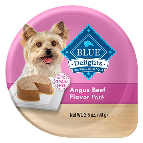 Blue Buffalo Delights Natural Adult Small Breed Wet Dog Food Cup, Angus Beef Flavor in Savory Juice 3.5-oz (Pack of 12)