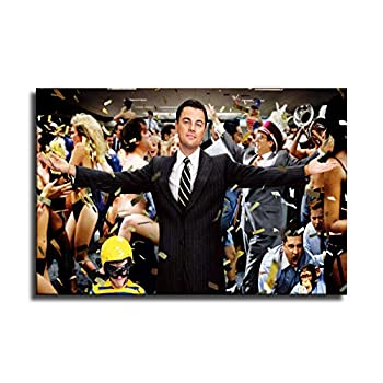 Wolf of Wall Street Canvas Art Poster and Wall Art Picture Print Modern Family Bedroom Decor Posters