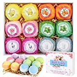 Bath Bombs Gift Set, 12 Pcs Organic Natural Essential Oil Bath Bombs for Dry Skin Moisturizing, Fizzy Spa Bath Set, Birthday Mothers Day Anniversary Christmas Gifts for Women, Mom, Girlfriends, Kids