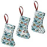 BCCYZ Rcorgi_Surf_Shop_Preview 7.5' Christmas Stockings 3 Pack Xmas Tree Hanging Decor for Family Holiday