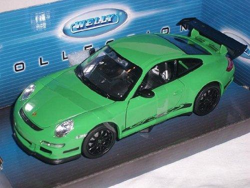 Welly Porsche 911 997 Gt3 GT 3 RS GrÜn 1/24 Modellauto Modell Auto