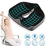 Best Coccyx Cushions - ROYI Memory Foam Seat/Chair Cushion for Relieves Back, Sciatica Review