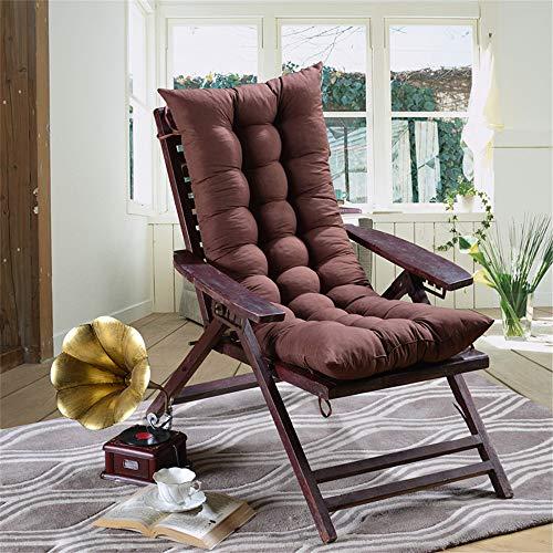 AGDLLYD Winter Lounge Sessel Kissen Verlängern Faltende Polsterung Schaukelstuhl Warm Halten Älterer Stuhl Sofakissen Sonnenliege Liegekissen Topper, 120 x 48 x 8 cm (Braun)