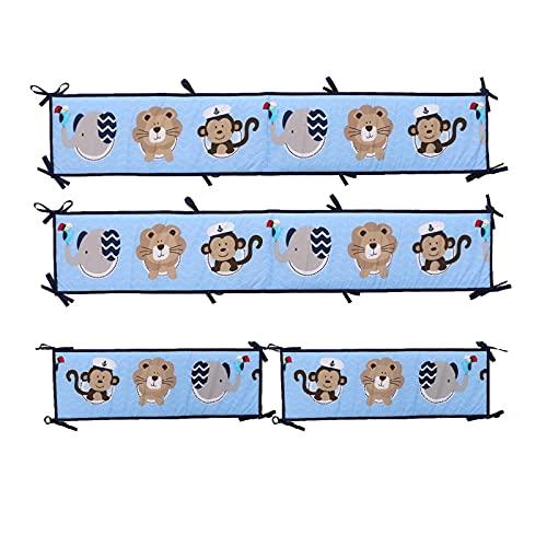 bluesa Protector De Seguridad Cuna Cojin Protector Cuna   Parachoques Cuna Bebe, Chichonera Bebe Cuna   Protector Cuna Chichonera para Proteger Bebe, Tira De Protección De Pared De Cama De Algodón