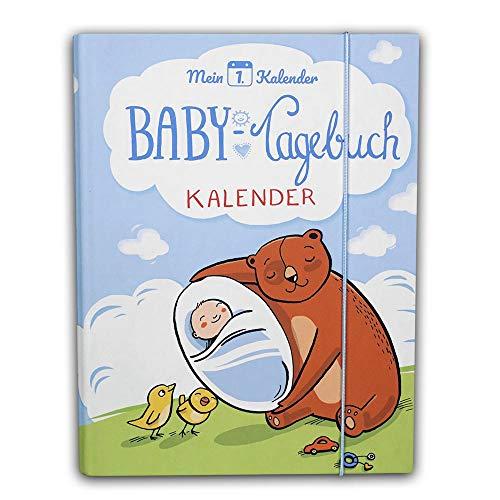 Mein 1. Kalender ® Diario de bebé, asesor de desarrollo, regalo para nacimiento, 365 consejos y trucos, A5, color azul