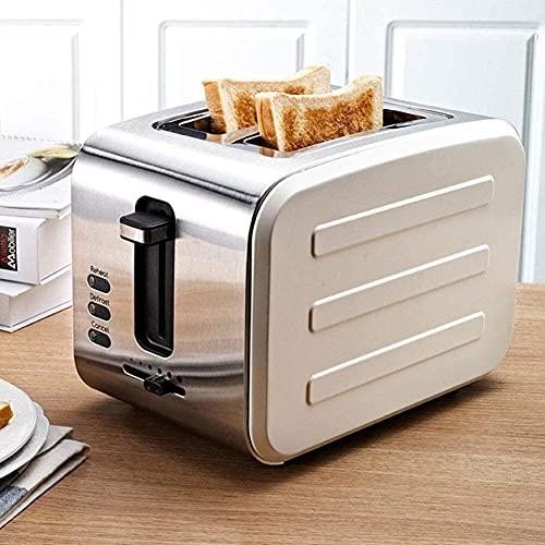 Bradoner 900W Toasters 2 Cortar el Mejor Acero Inoxidable Nominal con Ranuras Extra de Ancho, función de descongelación/recalentamiento/cancelación, Ranuras adicionales amplias, Bandeja de miga ex