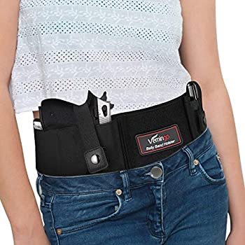 Vemingo Upgraded Conceal Carry Holster Breathable Neoprene Belly Band Holster for Concealed Carry Glock 19 17 42 43 P238 Ruger LCP Pistols Waistband Holster for Women and Men