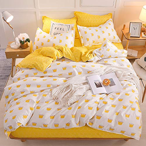 QWEASDZX Bedding Polyester Blended Polyester Fiber Eco-Friendly And Comfortable Breathable Bedding Set Zipper Design 1.2m
