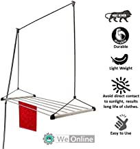WeOnline 5 Feet x 8 Pipes Stainless Steel Rust Proof Ceiling Clothes Hanger/Rack Roof Mount Pulley Cloth Dryer