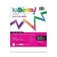 (Single Pack, White) - Kaboom White Card Stock, 22cm x 28cm, 100 sheets