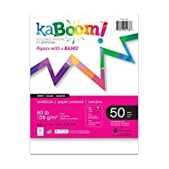 "Kaboom White Card Stock, 8.5"" x 11"", 100 sheets"