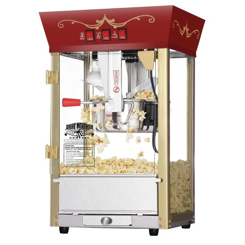 5. Great Northern Popcorn Red Matinee Movie Theater Style 8 oz. Ounce Antique Popcorn Machine