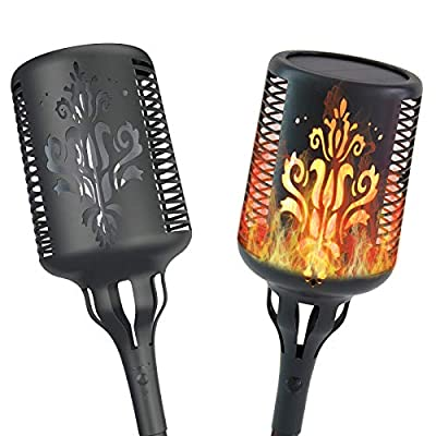 Aogist Solar Lights,Solar Flame Torch Lights Outdoor Waterproof Landscape Decoration Lighting Dusk to Dawn Auto On/Off Security Flickering Flames Lights for Yard Garden Patio