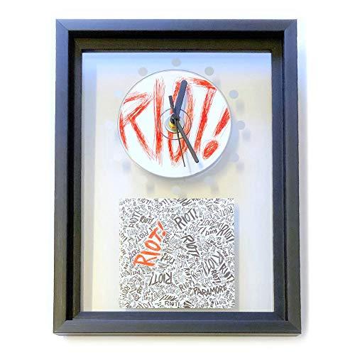 PARAMORE - Riot!: GERAHMTE CD-WANDUHR/Exklusives Design