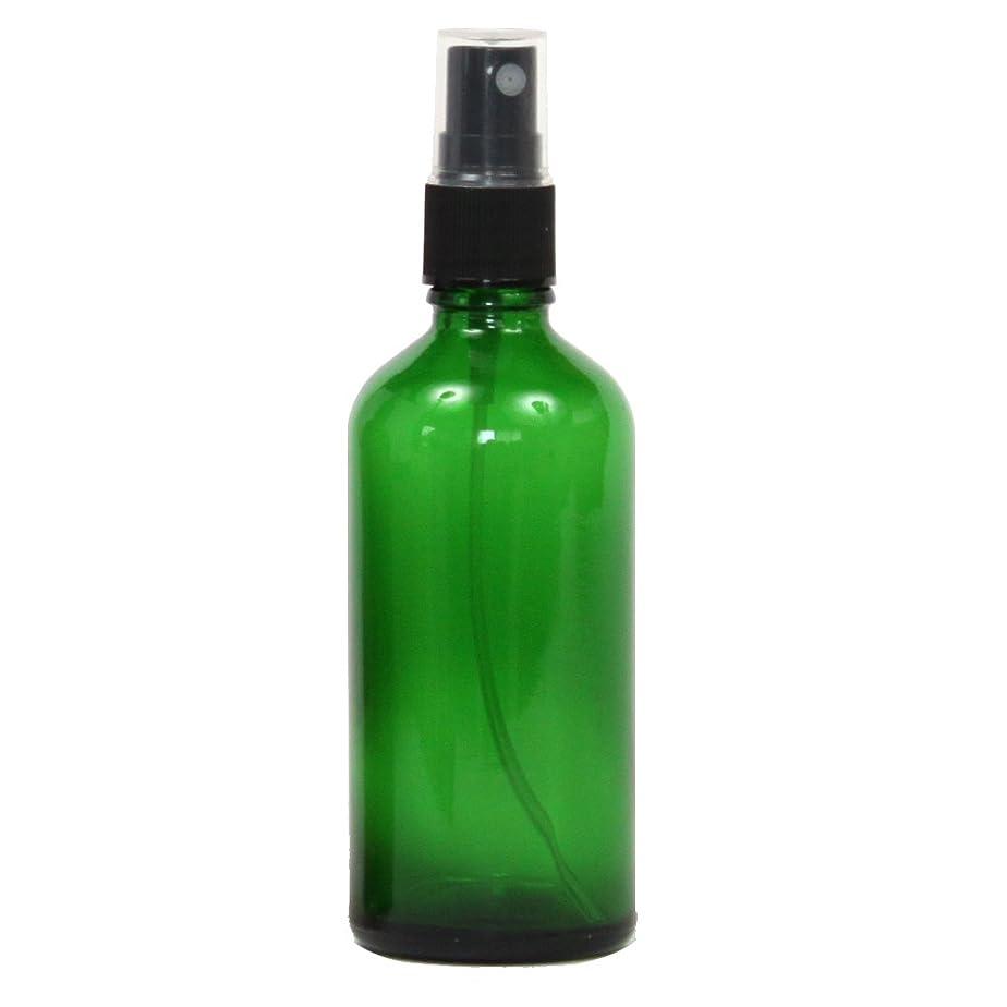 風景ペンフレンドレシピスプレーボトル ガラス瓶 100mL 遮光性グリーン ガラスアトマイザー 空容器