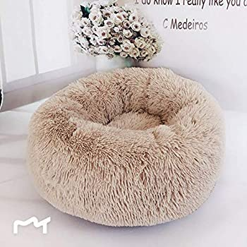 Dastrues Soft Dog Bed Dog Bed Cat Bed Pet Beds for Cats Pet Dog Cat Calming Bed Round Nest Warm Soft Plush Comfortable for Sleeping Winter
