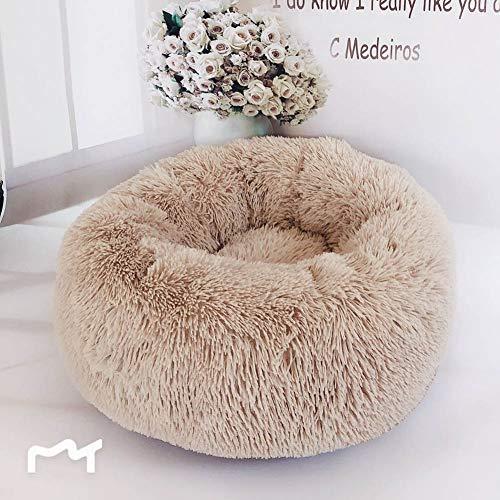 Loopunk Rond en Peluche pour Animal Domestique Nest Deep Sleep Pet Matelas épais Chaud Chien Lit Litière pour Chat Convient pour...