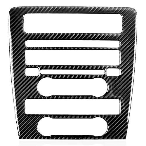 Blossion Etiquetas engomadas de Fibra de Carbono, Control Central de la Cubierta del Panel de CD, Etiquetas engomadas del Interior del automóvil para Ford Mustang 2009-2013,1 PCS
