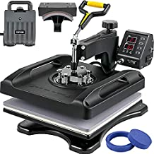 VEVOR Upgrade Heat Press Machine with FCC&CE Quality-Safety Certification 15 x 15 in 5-in-1 Heat Press 800W Sublimation Machine 360°Rotation Heat Press Shirt Printing Machine for Shirts Cap and Mugs