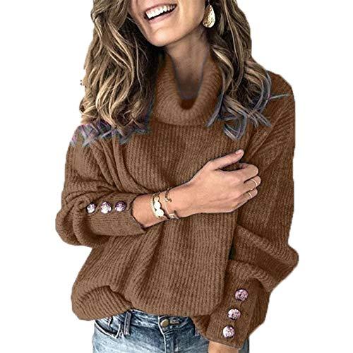 16-Farben Herbst Und Winter Damen Pullover High-End Button Top