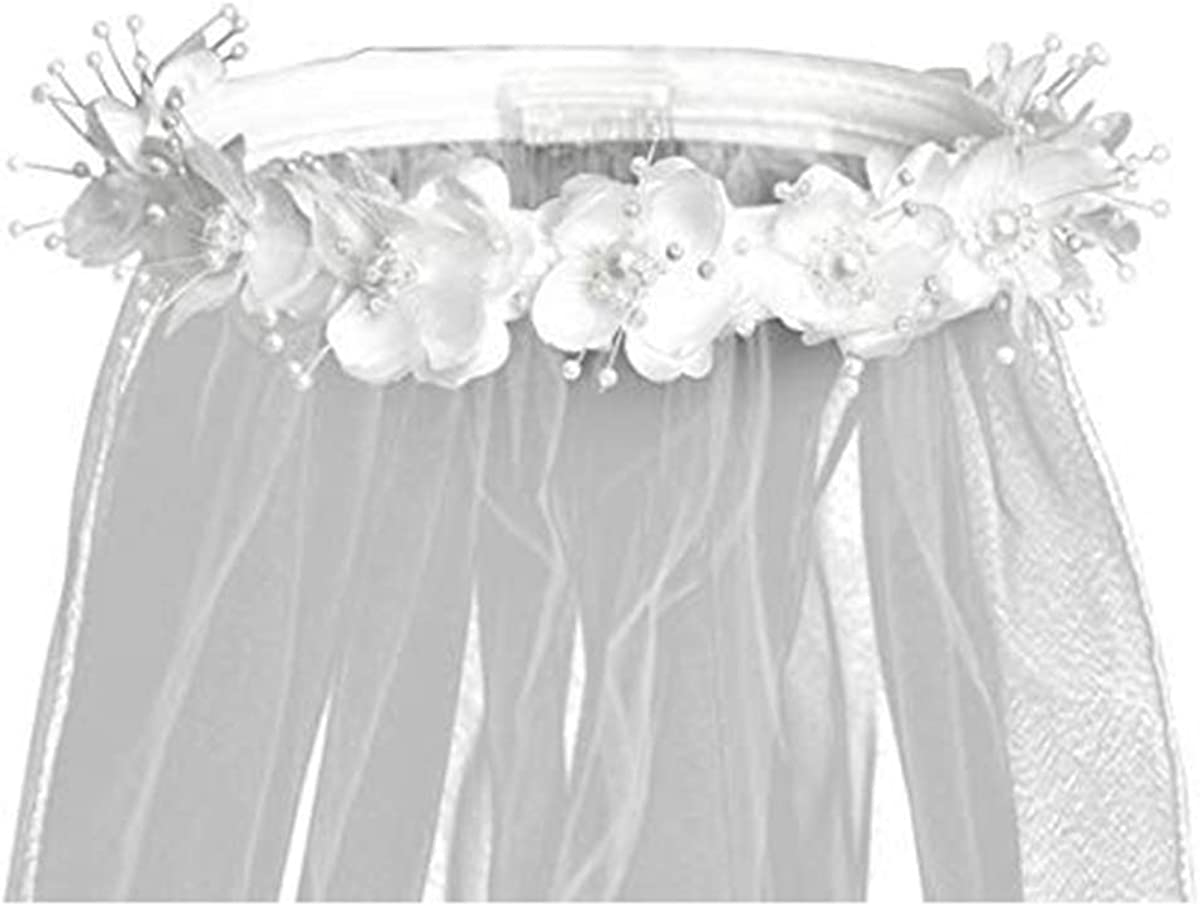 Swea Pea and Lilli White First Communion Veil Girls Flower Crown with Pearl Accents & 30