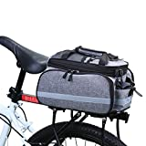 WILDKEN Bolsa Alforja Trasera Bicicleta Impermeable Bolso de Asiento Trasero para Viaje Portátil Extensible Bolsa de Hombro para Ciclismo al Aire Libre (Gris)