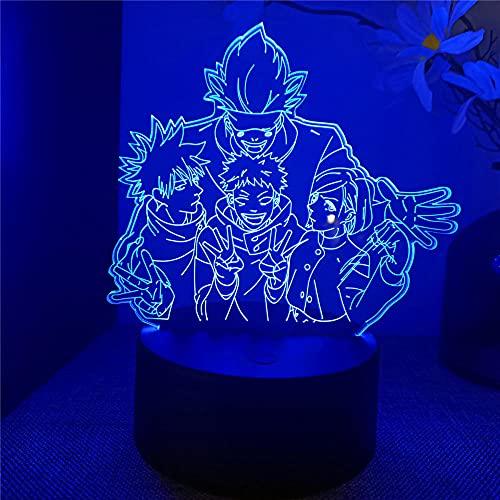 3D Light lamp Jujutsu Kaisen Night Light for Kids Birthday Xmas Festival Gifts for Boys Kids Room