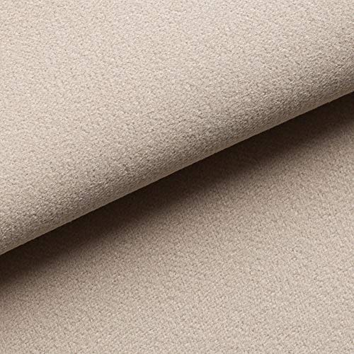 NOVELY® Triton Microfaser Velours Wildleder-Optik 34 Farben Möbelstoff Polsterstoff (02 Beige)