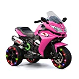 Alison Children Battery Motor Bikes Rechargeable 3 Wheels Ride on Kids Electric Motorcycle with Light Wheels