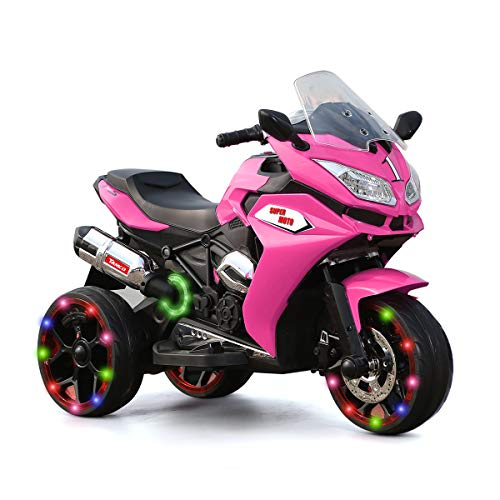 Great Price! TAMCO Ride on Motorcycle for Toddlers, 3 Twinkling Wheels Electric Motorcycle, 2 Batter...
