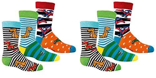 C&C KIDS Kinder Socken,6 Pack,23/26,Dino