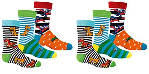 C&C KIDS Kinder Socken,6 Pack,23/26,Dino