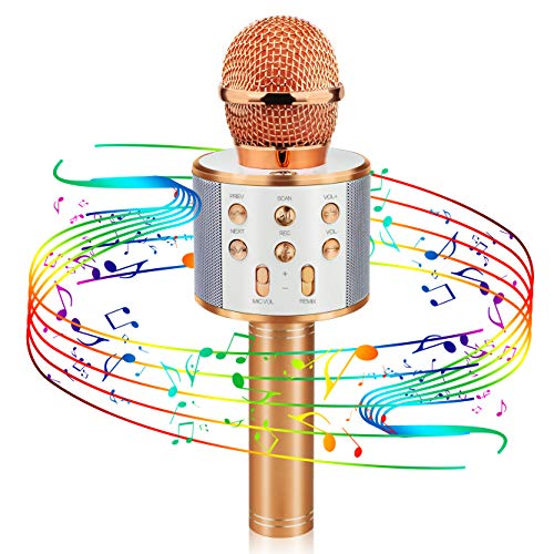 Birthday Gifts for 4-12 Year Old Girls, Viposoon Wireless Karaoke Microphone for Kids Best Birthday Gifts for Girls Boys Age 4-12 Girls Games Age 4-13 Toys for Teens Boys Girls