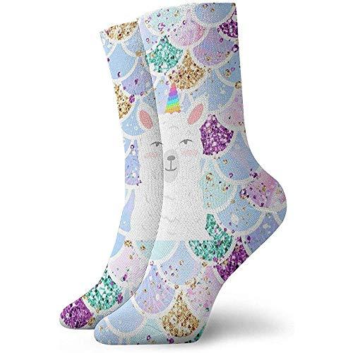 Süße Meerjungfrau skaliert Söckchen lässig gemütliche Crew Socken für Männer, Frauen, Kinder