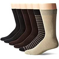 12-Pack Hanes Men's ComfortBlend Casual Assorted Crew Socks