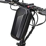 QINGCHU Bolsa para scooter, bolsillo delantero rígido para patinete, bolsa de manillar grande, resistente al agua, bolsillo delantero para patinete eléctrico, impermeable, plegable