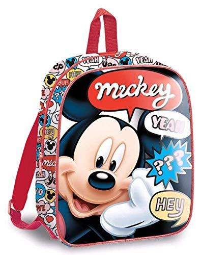 Mickey Mouse 29cm Mochila Tiempo Libre y Sportwear Infantil  Juventud Unisex  Multicolor