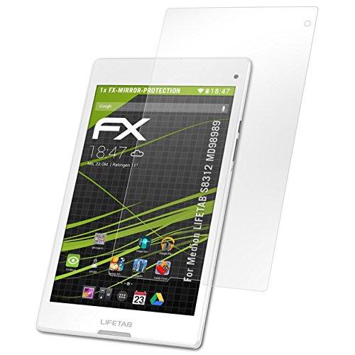 atFolix Bildschirmfolie kompatibel mit Medion LIFETAB S8312 MD98989 Spiegelfolie, Spiegeleffekt FX Schutzfolie