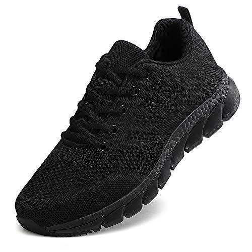 ZPAWDH Zapatillas Deportivas de Mujer Running Zapatos para Correr Gimnasio Calzado(All Black.41EU