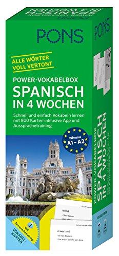 PONS Power-Vokabelbox Spanisch - Schnell und einfach Vokabeln lernen mit 800 Karten inklusive App und Aussprachetraining
