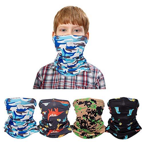 Banne Cooling Kids Neck Gaiter with Ear Loop and Filter Pocket Summer for Boys