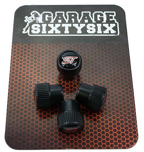 Garage-SixtySix 4 Ventilkappen Modell Chicago SCHWARZ Motiv: ST
