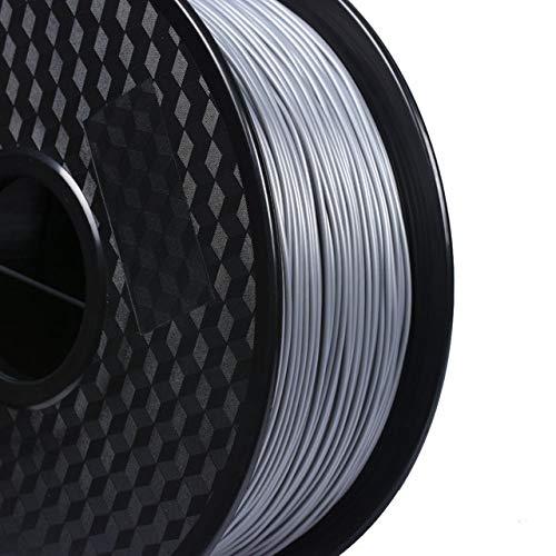 DZWLYX Stampante 3D filamento PLA 1,75 Millimetri 1KG plastica filamento Materiale RepRap Createbot/MakerBot for Parti della Stampante 3D / Penna 3D (Color : Gray)